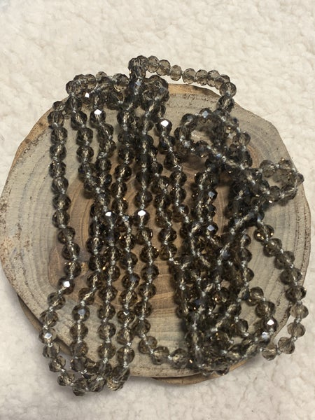 Smoky Quartz Petite Point Of Perfection Beaded Necklace