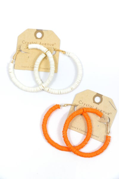 On The Go Rubber Disc Hoop Earring In Multiple Colors
