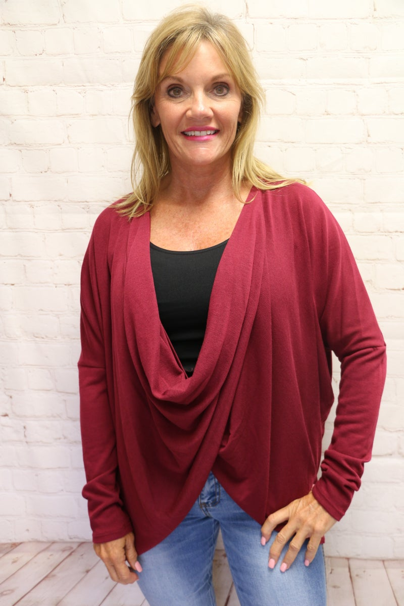 Pull It All Together Draping Cardigan in Multiple Colors - Sizes 4-10