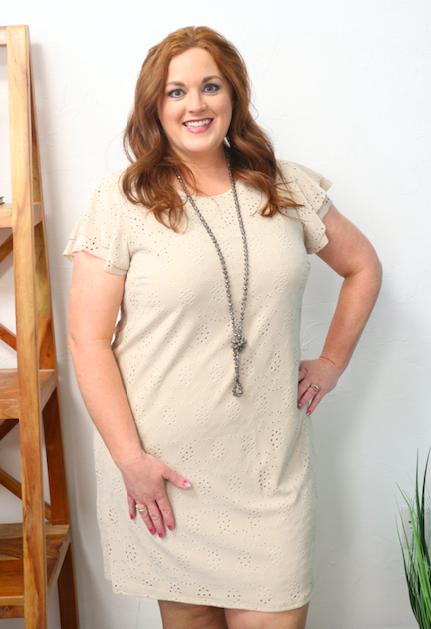 Always Dreaming Eyelet Dress in Multiple Colors - Sizes 12-20