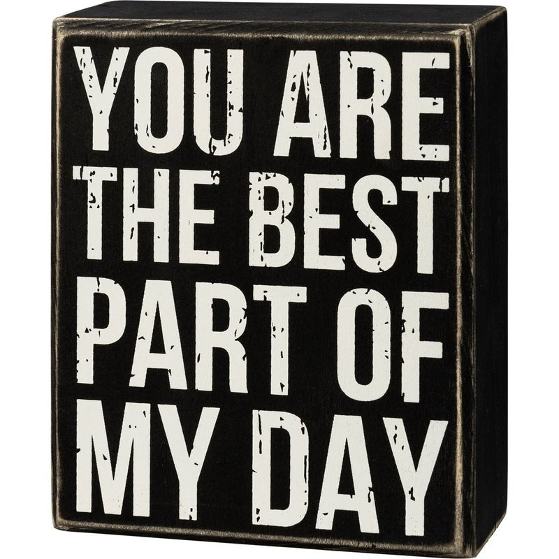 You are the Best Part of My Day Distressed Box Sign