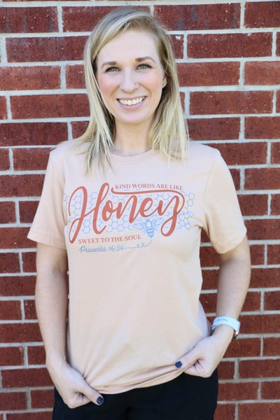 Kind Words Are Like Honey September T-Shirt of The Month - Sizes 4-20