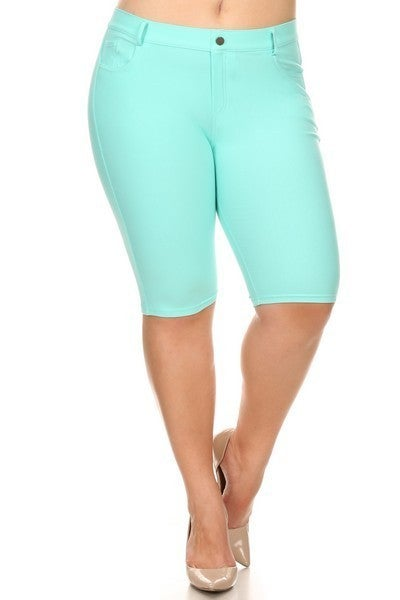 The Hayli Long Shorts Jeggings in Multiple Colors - Sizes 4-20 ***FINAL SALE***