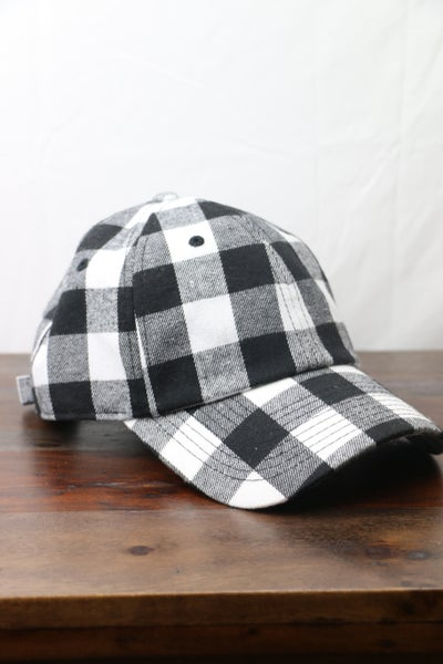 Here We Go Buffalo Plaid Ball Cap In Multiple Colors