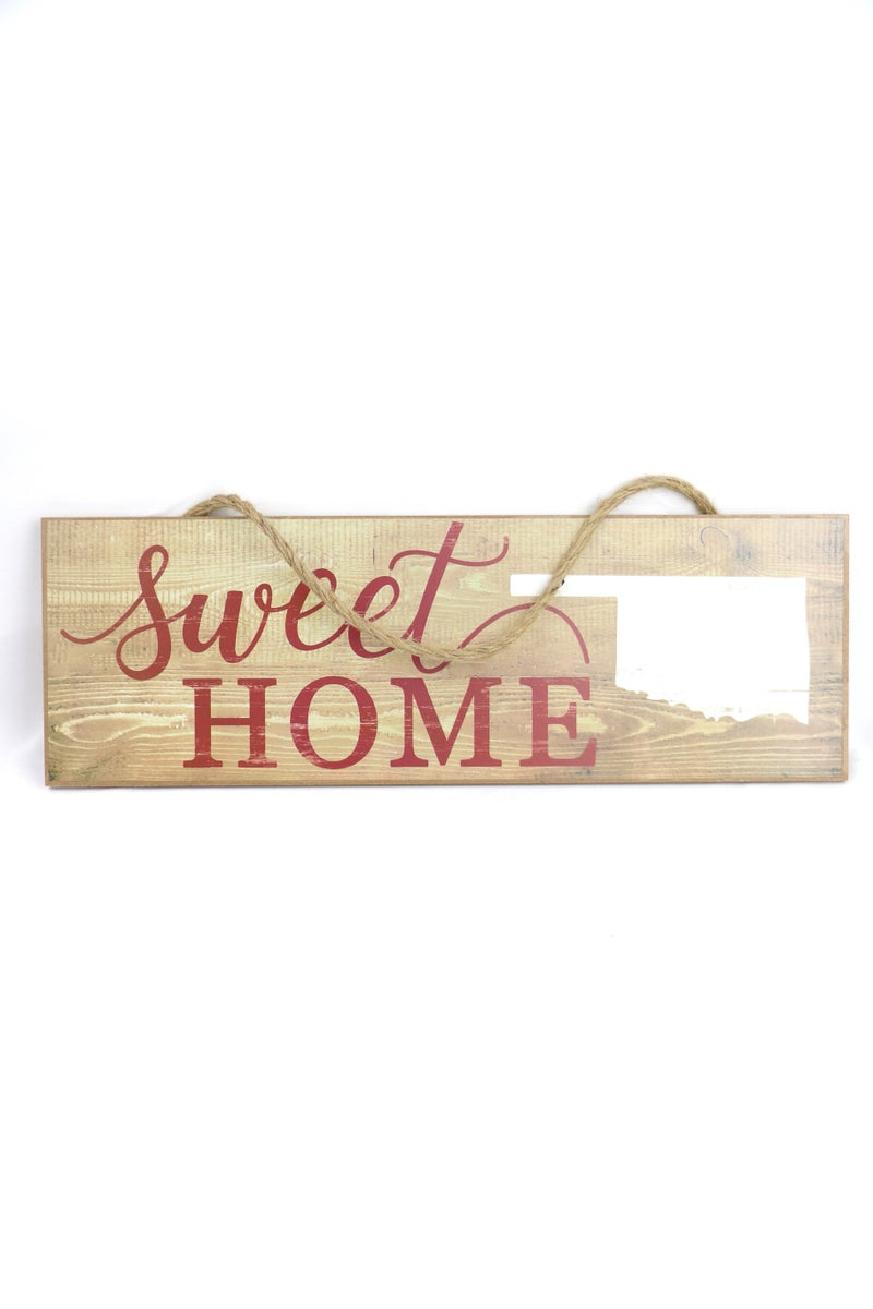 Sweet Home Oklahoma Wood Hanging Sign