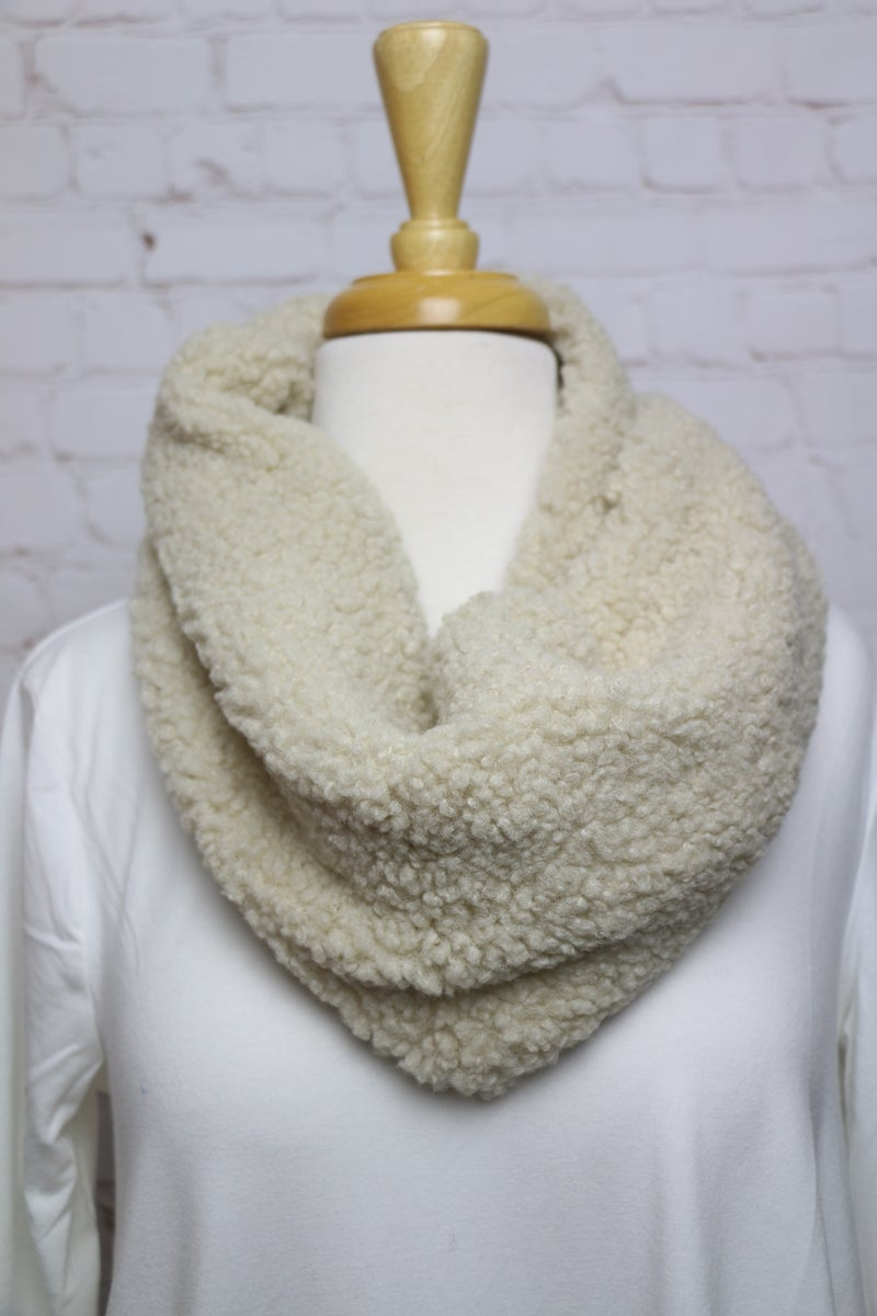 Keep Me Warm Faux Sherpa Infinity Scarf in Multiple Colors