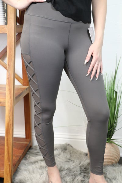 Take a Page Charcoal Active Legging - Sizes 4-10