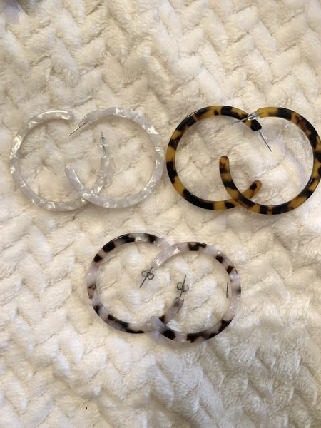 Higher And Higher Acetate Hoop Earring In Multiple Colors