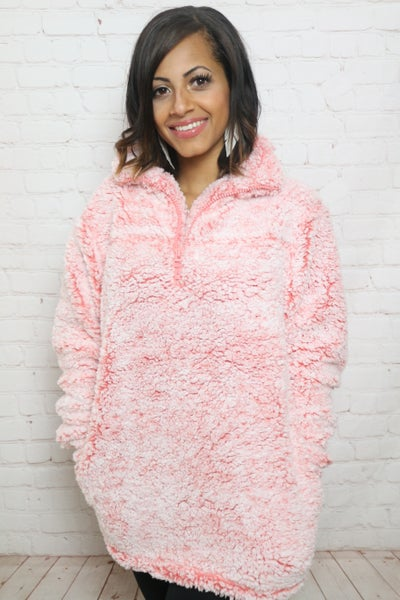 Ultimate Softness Solid Sherpa Pullover Jacket in Multiple Colors - Sizes 4-20