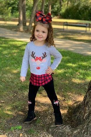 Santa's Favorite Reindeer Tunic and Legging Set ***PREORDER*** - Sizes 6M-8Y