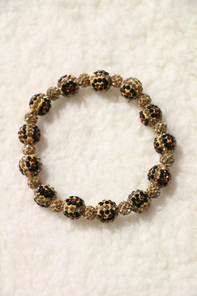 Wild Time Leopard Beaded Bracelet In Multiple Colors