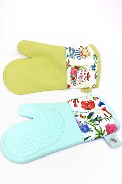 Oven Mitt With Silicone Grip in Multiple Colors