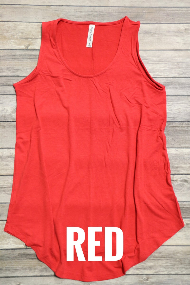 Best Time Ever Basic Tank With Scoop Hem- Sizes 4-20