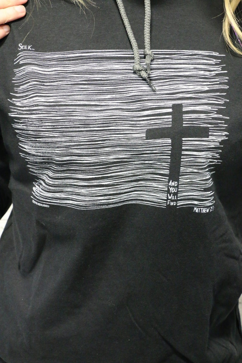 Seek God Hooded Long Sleeve In Black Sizes 4-10