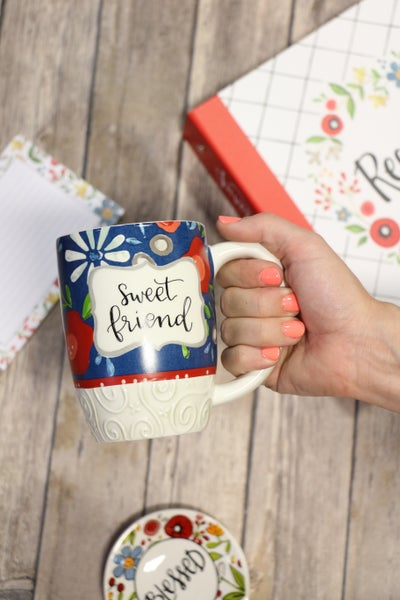 Sweet Friend Floral Coffee Mug