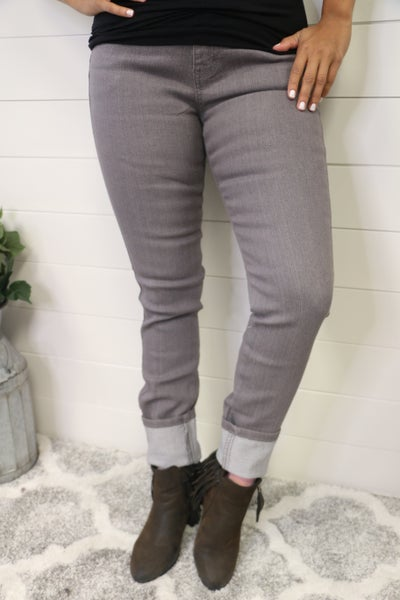 This Is The Time Gray Jeans- Sizes 3-16