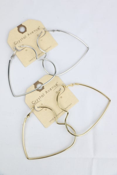 Heartbeat Large Heart Hoop Earrings In Multiple Colors