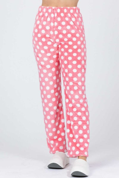 Fun Times Polka Dot Pajama Bottom in Multiple Colors - Sizes 4-18