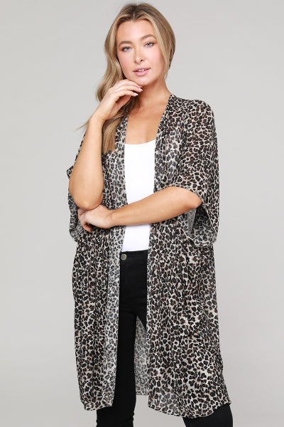 Prowling through the Jungle Leopard Kimono - One Size Fits Most