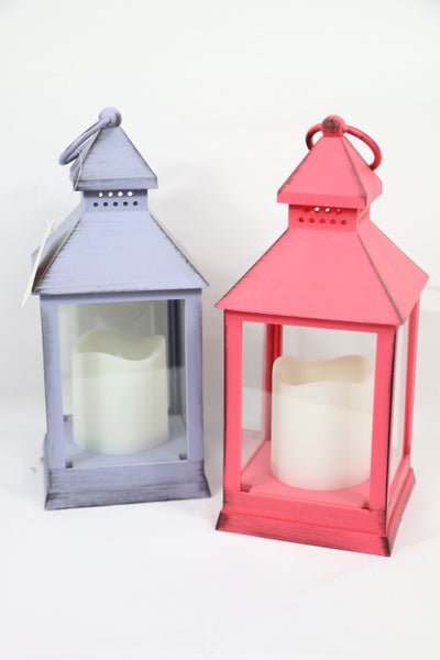Be The Light Small Metal Lantern With Light And Timer