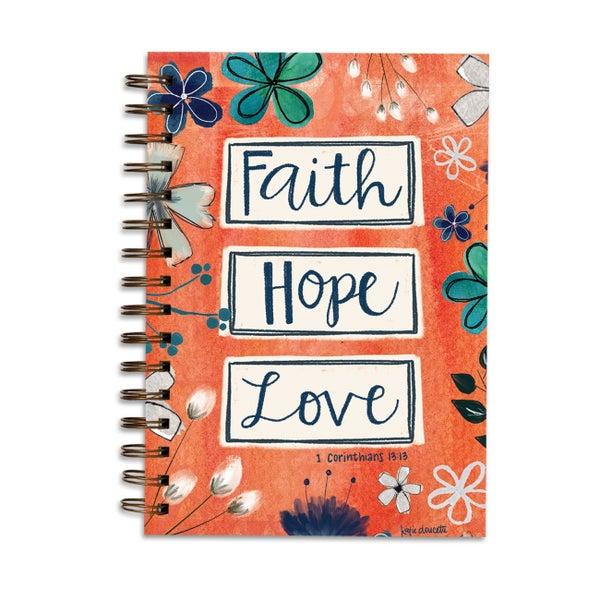 Faith, Hope, Love, 1 Cor. 13:13 Lined Journal