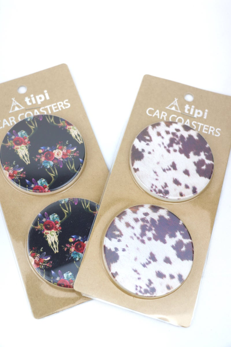 There It Is Set of 2 Ceramic Coasters In Multiple Prints