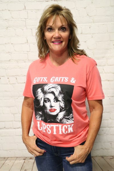 Dolly Guts, Grit & Lipstick Tee in Multiple Colors - Sizes 4-18