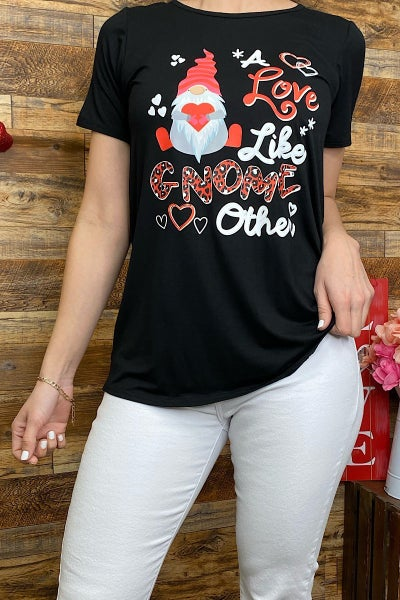 A Love Like Gnome Other Black Graphic Tee - Sizes 4-20