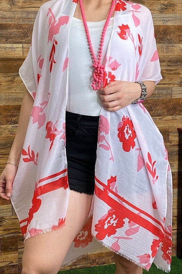 On An Adventure Floral Kimono in Multiple Colors - One Size Fits Most