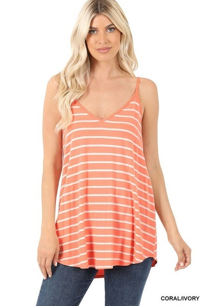 All For Fun Striped Tank In Multiple Colors- Sizes 4-20