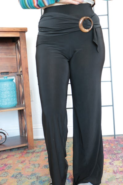 True To Yourself Stretchy Pants With Belt Detail- Sizes 4-18