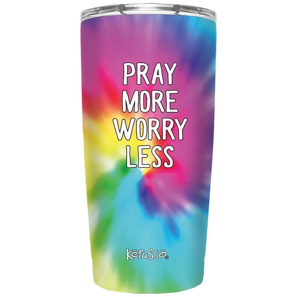 Pray More Worry Less Tie Dye Tumbler