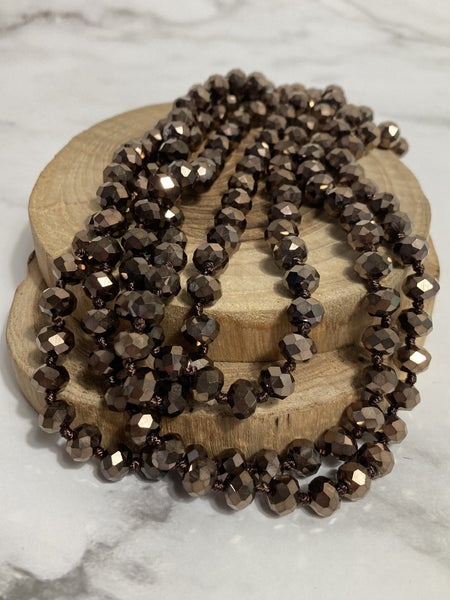 Deep Brown Point Of Perfection Beaded Necklace