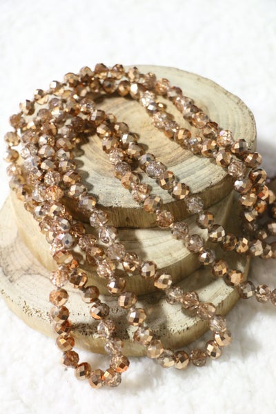 Crystal Gold Point Of Perfection Beaded Necklace