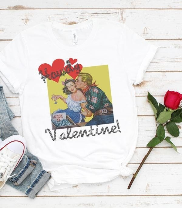 ***PRE-ORDER*** Howdy Valentine Graphic Tee In White - Sizes 4-12