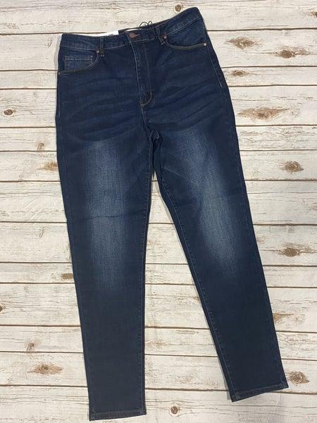 The Kara Dark Wash High Rise Skinny Jean - Sizes 12-20