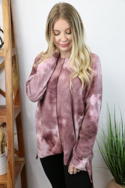 One Cool Girl Super Soft Mauve Tie Dye Top - Sizes 4-20