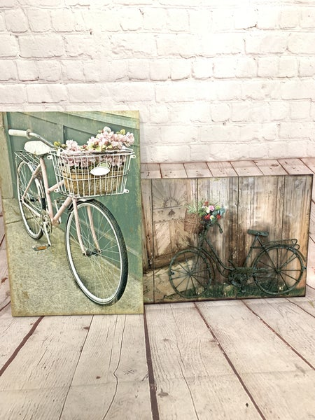 Canvas Bicycle 3D Wall Art In Multiple Prints