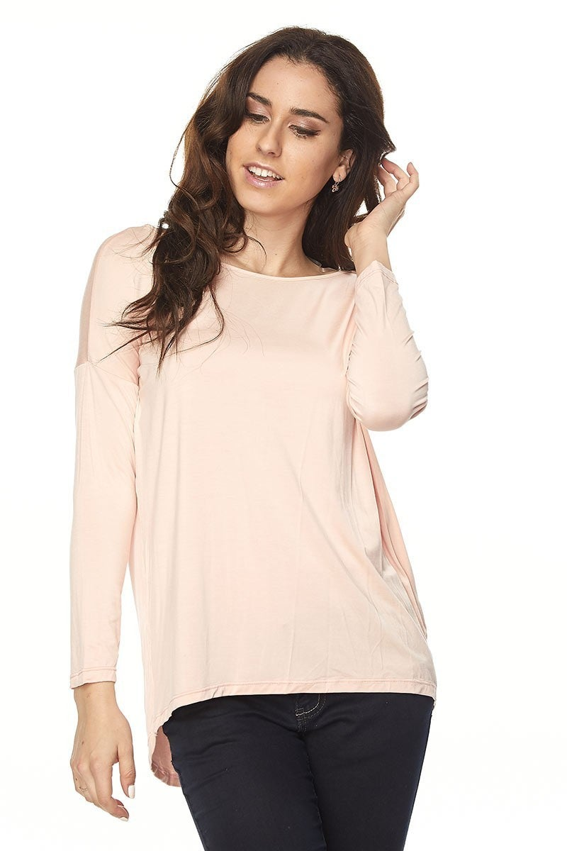 We've Got the Beat High-Low Quarter Sleeve Piko in Multiple Colors - Sizes 12-20