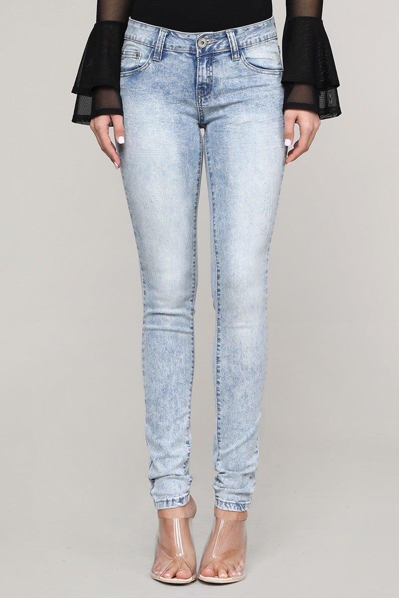 The Addie Acid Wash Skinny Jean - Sizes 1-15