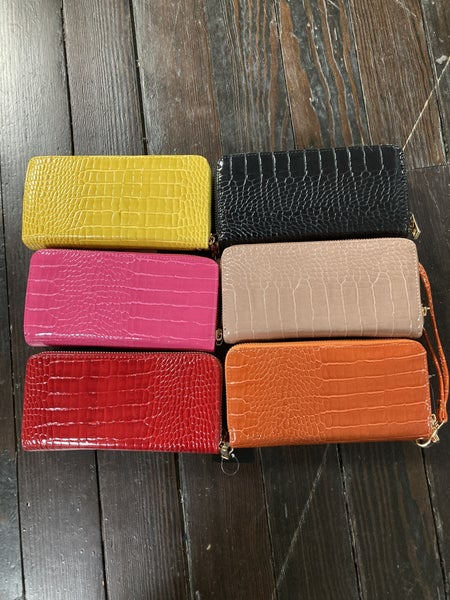 Crocodile Princess Faux Leather Wallet in Multiple Colors
