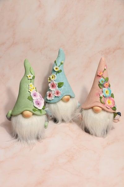Spring Fling Small Garden Gnome Set