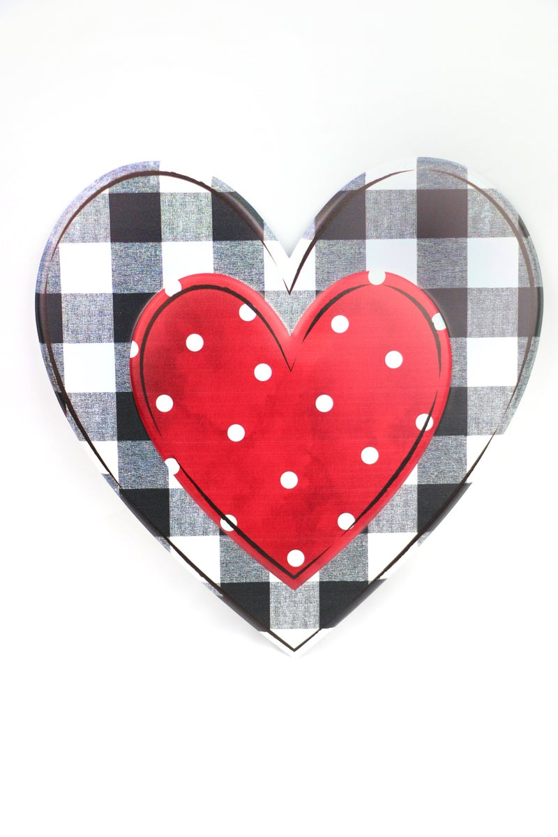 Love At First Sight Metal Double Heart Wall Decor In Multiple Patterns
