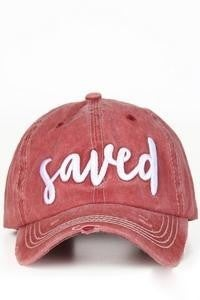 Saved Distressed Ball cap in Multiple Colors