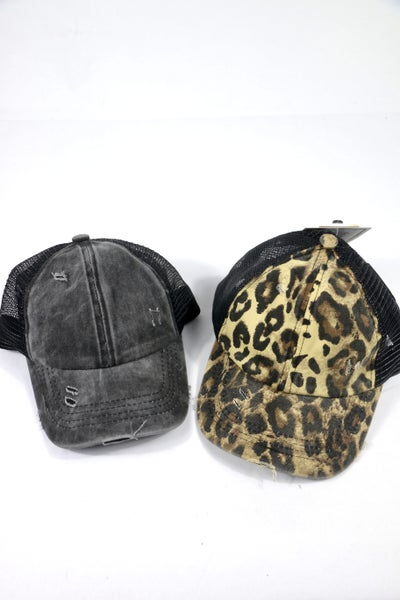 All For Fun Kids CC Criss Cross Pony Ballcap In Multiple Colors