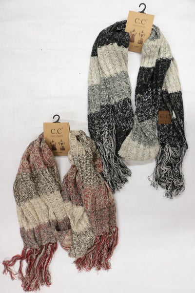 Can't You Stay CC Crochet Scarf with Tasseled Ends in Multiple Colors
