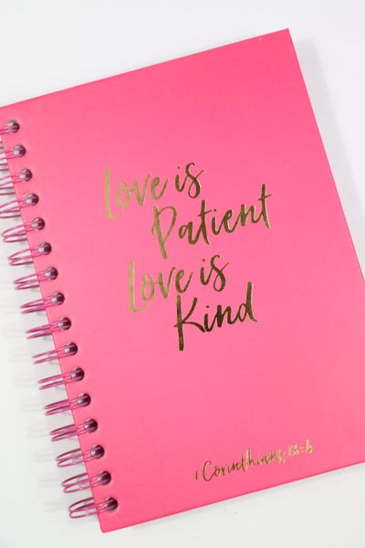 Love is Patient, Love is Kind Lined Spiralbound Journal