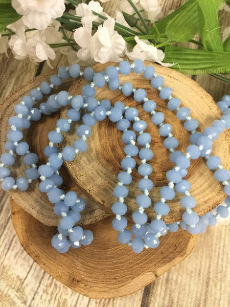 Arctic Blue Point of Perfection Beaded Necklace