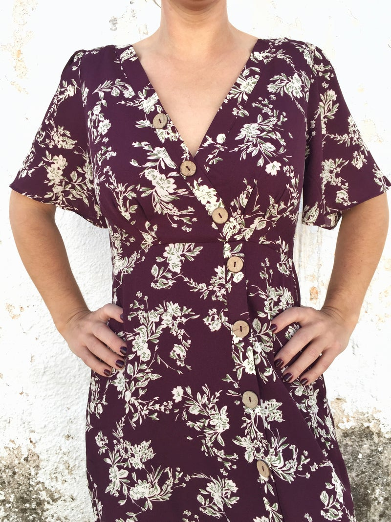 A Little Like Macy Floral Button Dress - Multiple Colors - Sizes 4-10