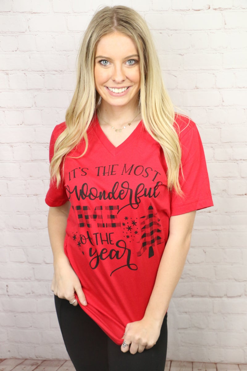 It's The Most Wonderful Time of the Year Graphic Tee in Multiple Colors - Sizes 4-20